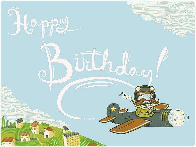Открытка для летчика с днем рождения